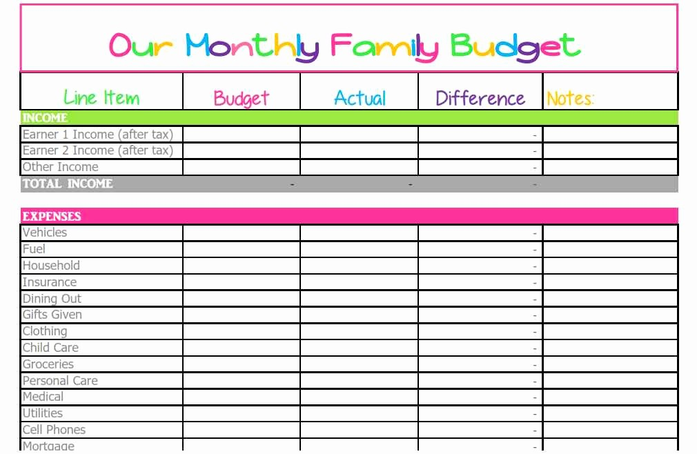 Household Budget Spreadsheet Template Free Beautiful Household Spreadsheet Templates Spreadsheet Templates for