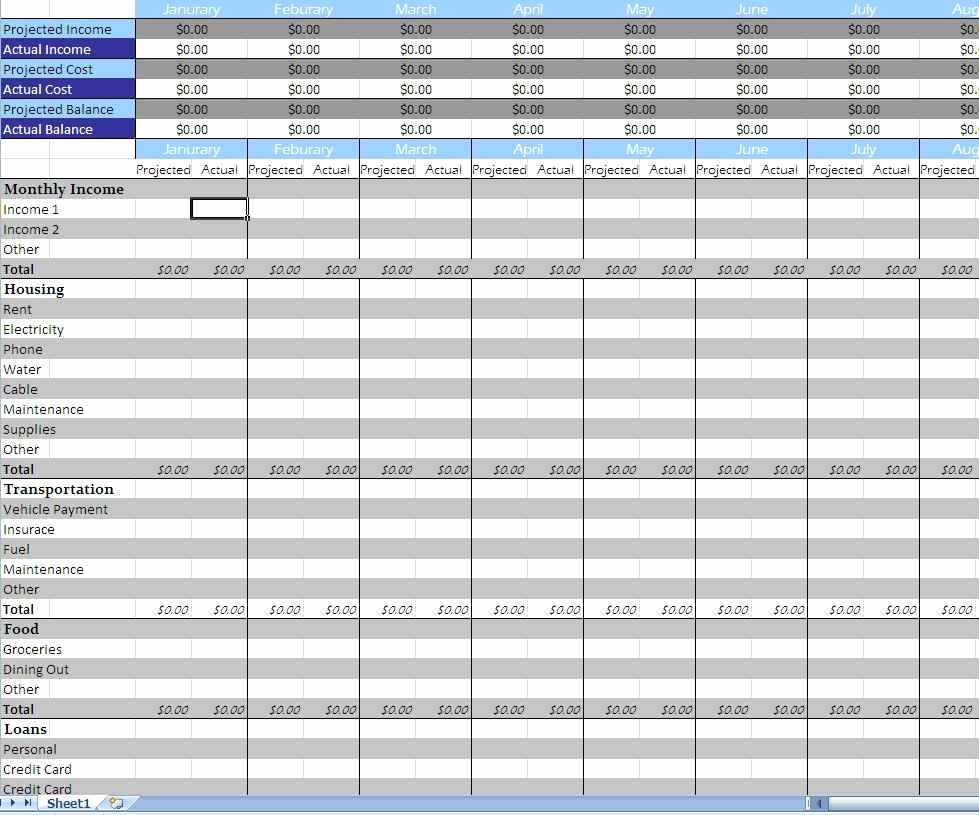 Household Budget Spreadsheet Template Free Best Of Monthly Bills Spreadsheet Template Monthly Spreadsheet