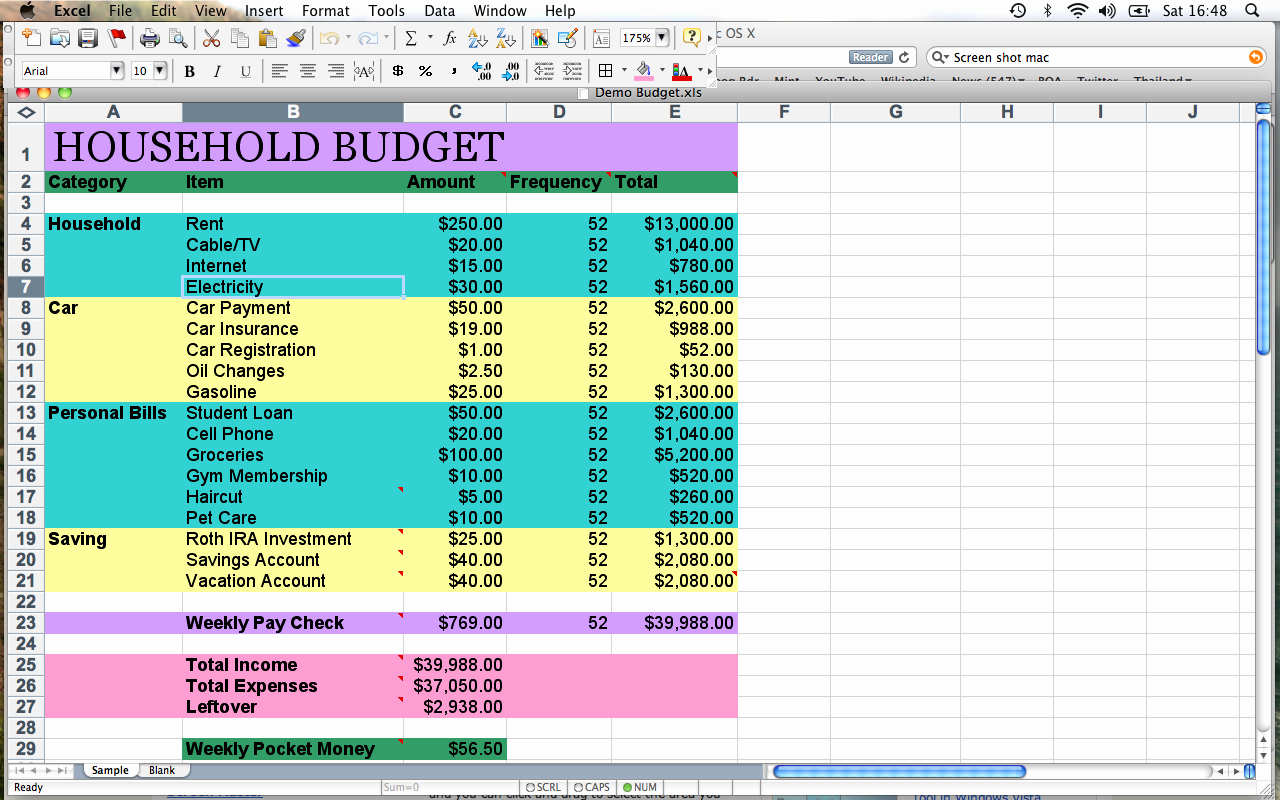 Household Budget Spreadsheet Template Free Lovely Spreadsheet Template for Household Bud Ing