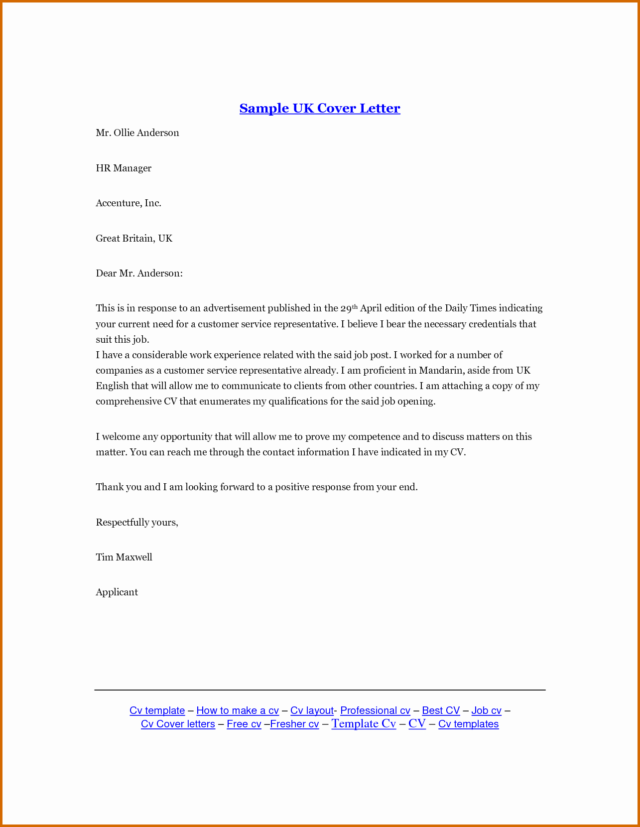 10 how to write a cover letter uk
