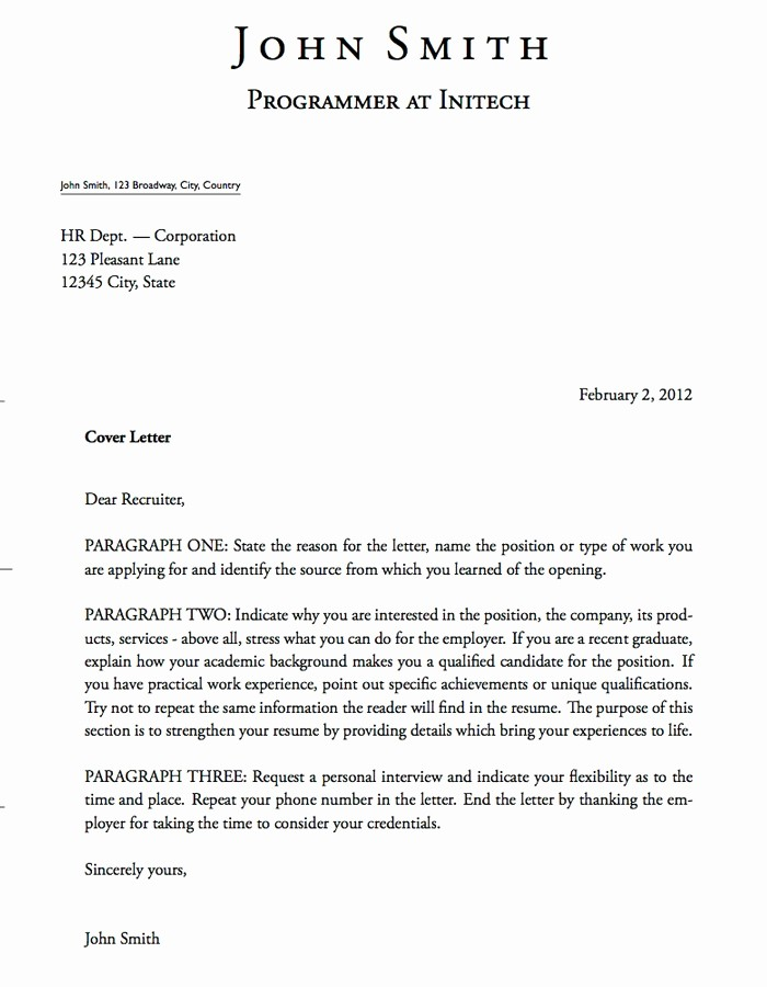 How to Cover Letter Template Elegant Writing Hard Copy and E Mail Cover Letters