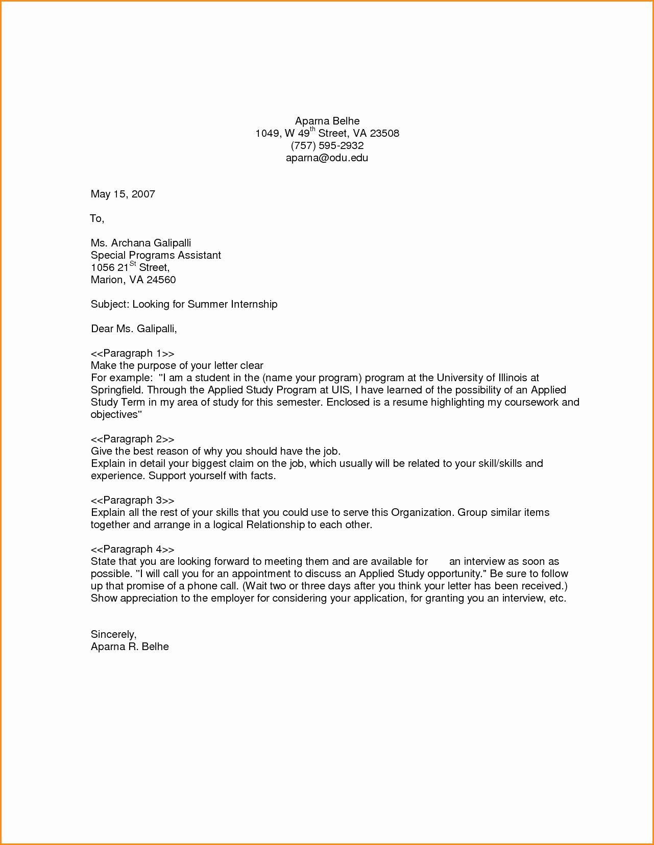 How to Cover Letter Template Lovely 7 Generic Cover Letter Example