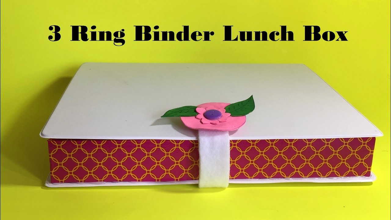How to Create A Binder Awesome Diy Lunch Box How to Make A Lunch Box Using 3 Ring Binder