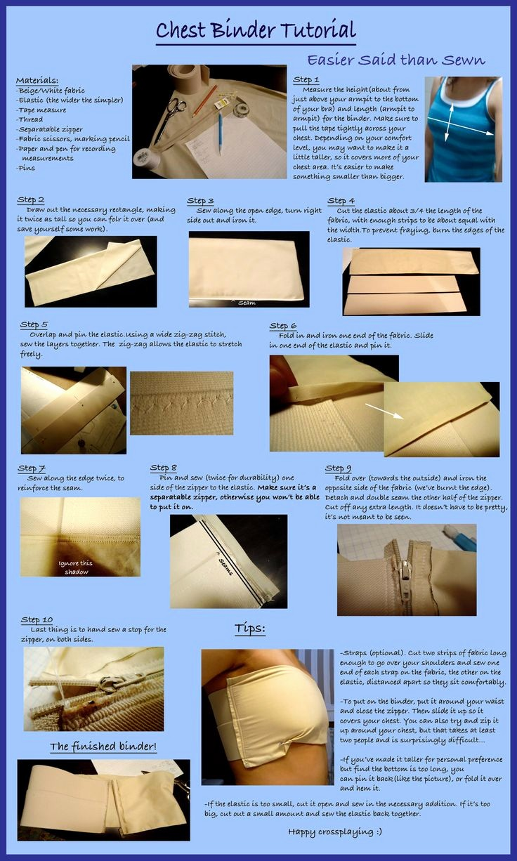 How to Create A Binder Beautiful Chest Binder Tutorial by Misslia500viantart On