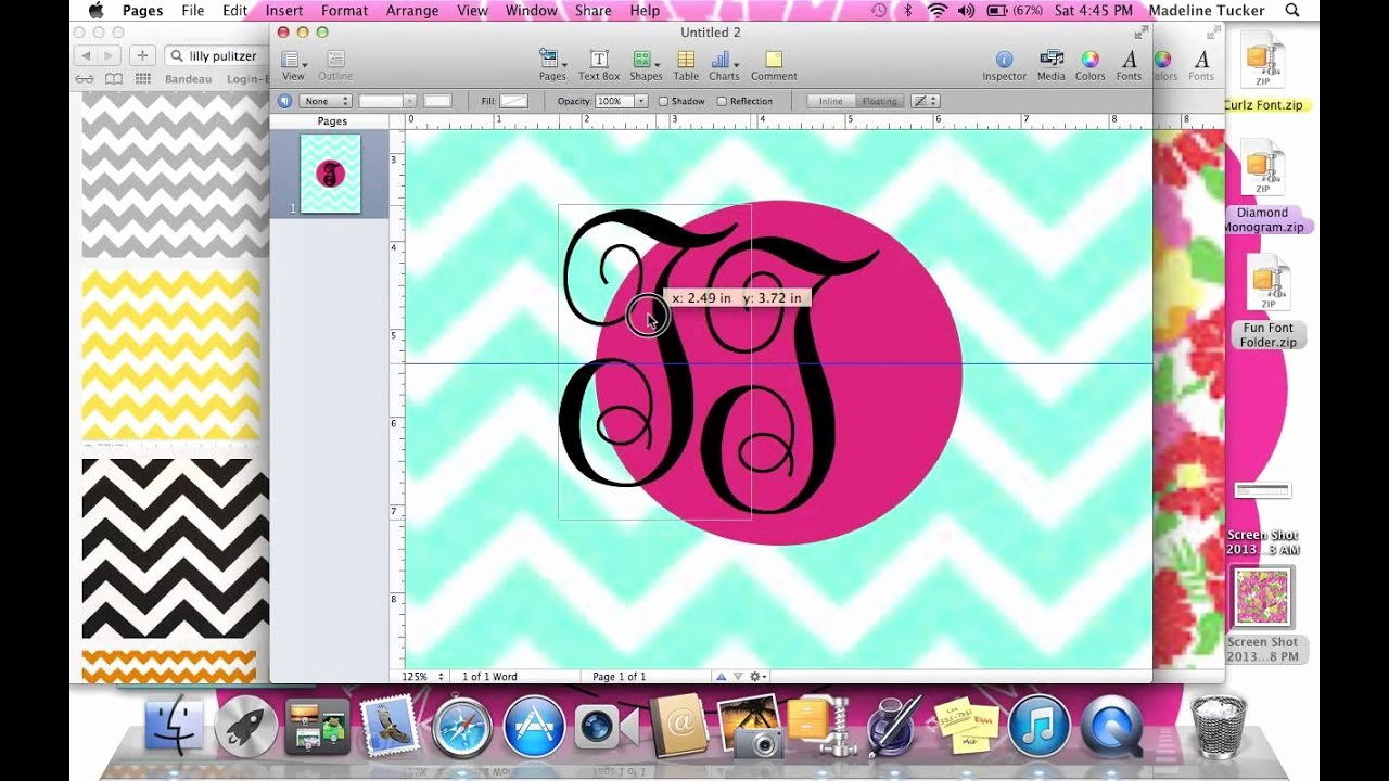 How to Create A Binder Beautiful How to Make A Monogrammed Binder Cover
