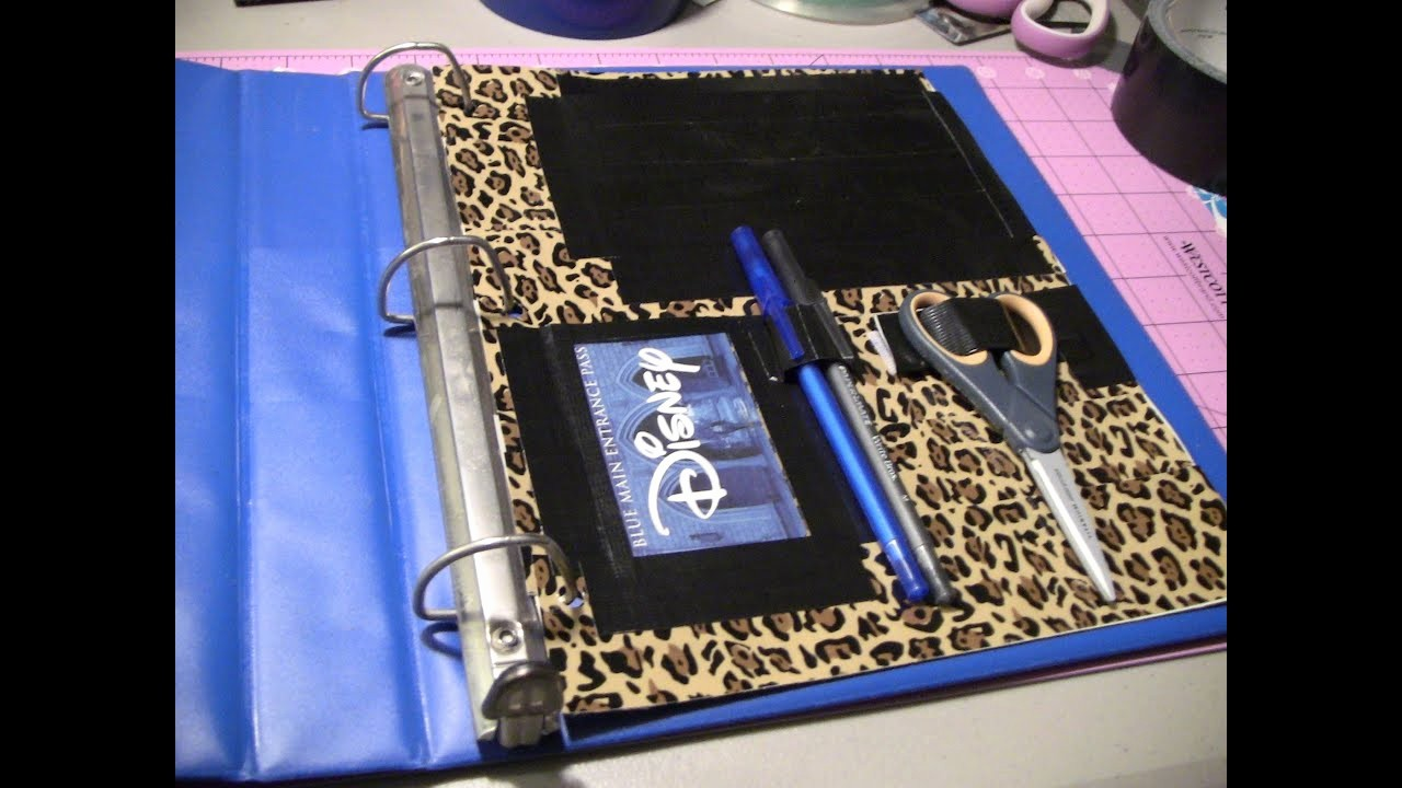 How to Create A Binder Inspirational How to Make A Duct Tape Binder Pocket Page