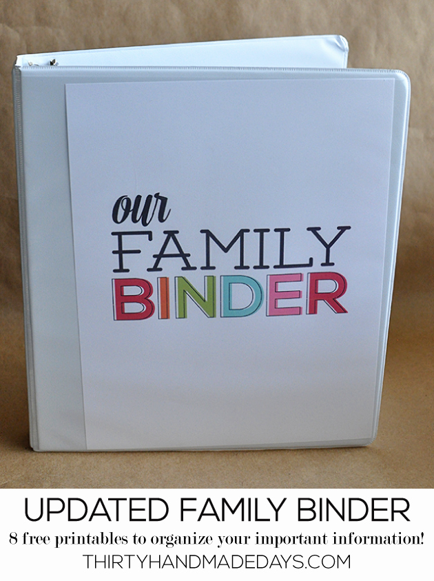 How to Create A Binder Inspirational Printable Updated Family Binder