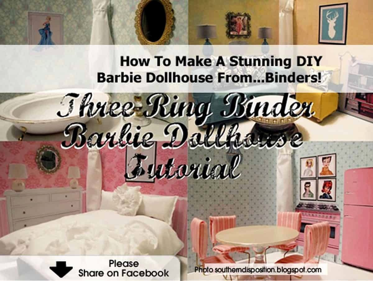 How to Create A Binder New How to Make A Stunning Diy Barbie Dollhouse From Binders