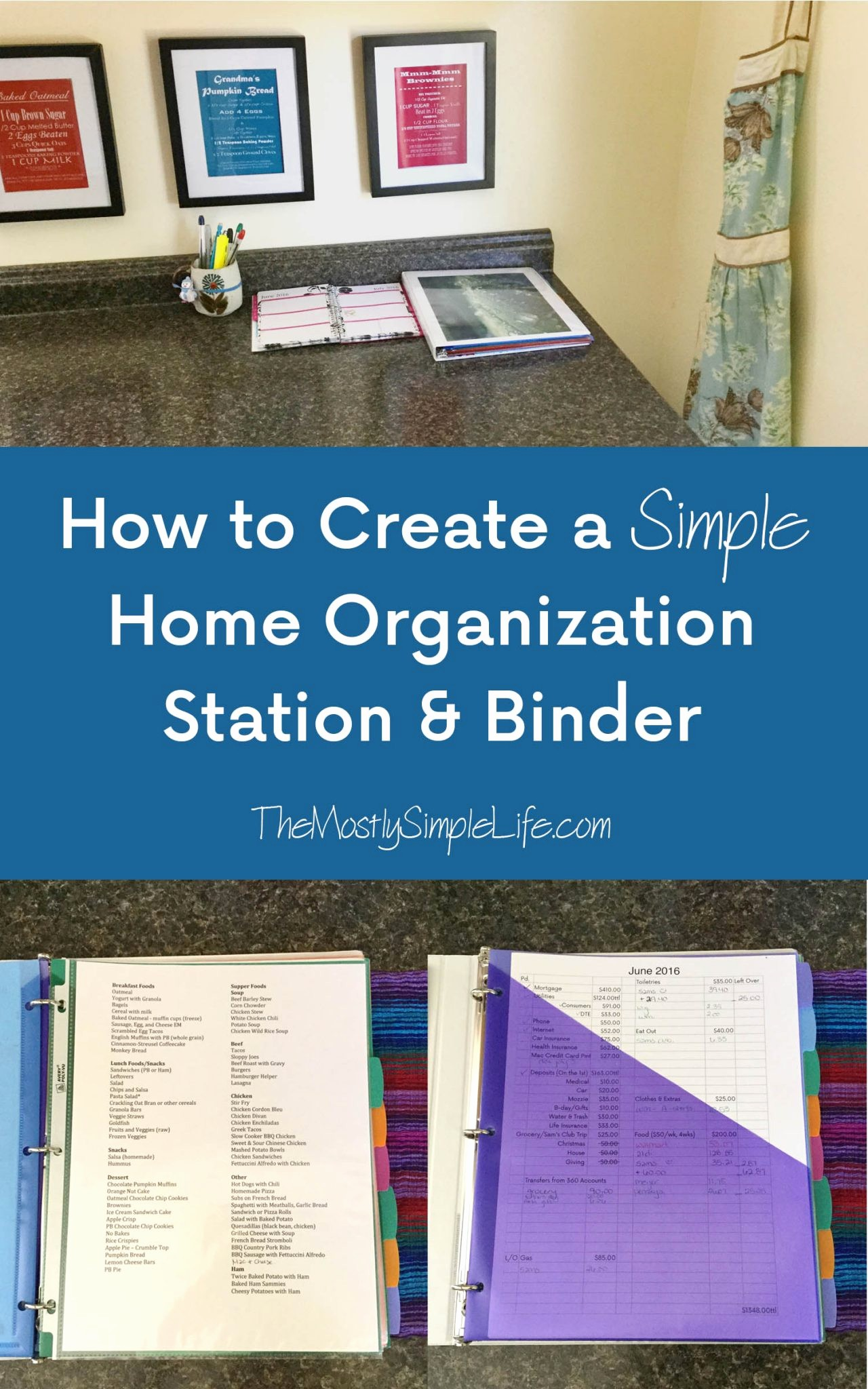 How to Create A Binder Unique Creating A Simple Home organization Station & Binder the