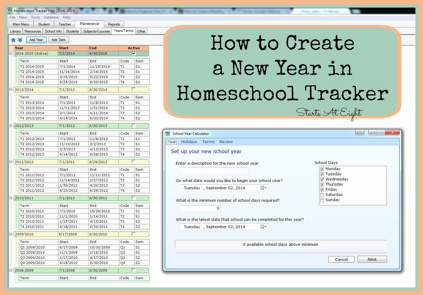 How to Create A Tracker Beautiful How to Create A New Year In Homeschool Tracker Startsateight