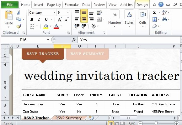 How to Create A Tracker Fresh How to Easily Create Wedding Invite List In Excel