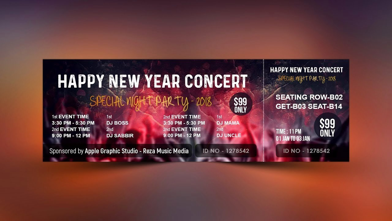 How to Create event Tickets Awesome How to Design event Ticket Template In Shop