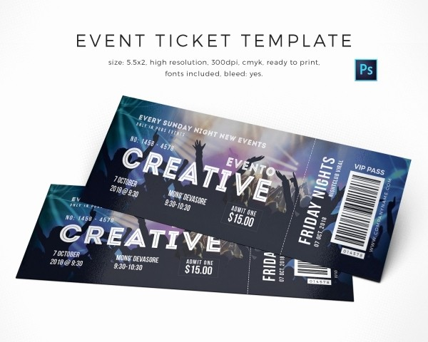 How to Create event Tickets Elegant 13 event Ticket Templates
