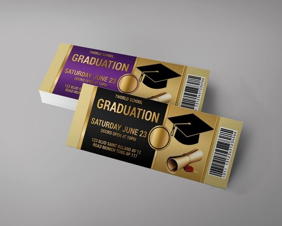 How to Create event Tickets Elegant Graduation event Tickets Design Graduation Invitation