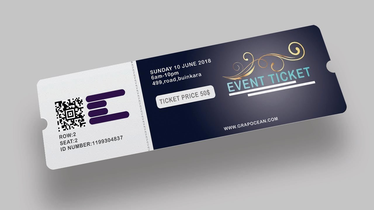 How to Create event Tickets Fresh event Ticket Design Shop Tutorial