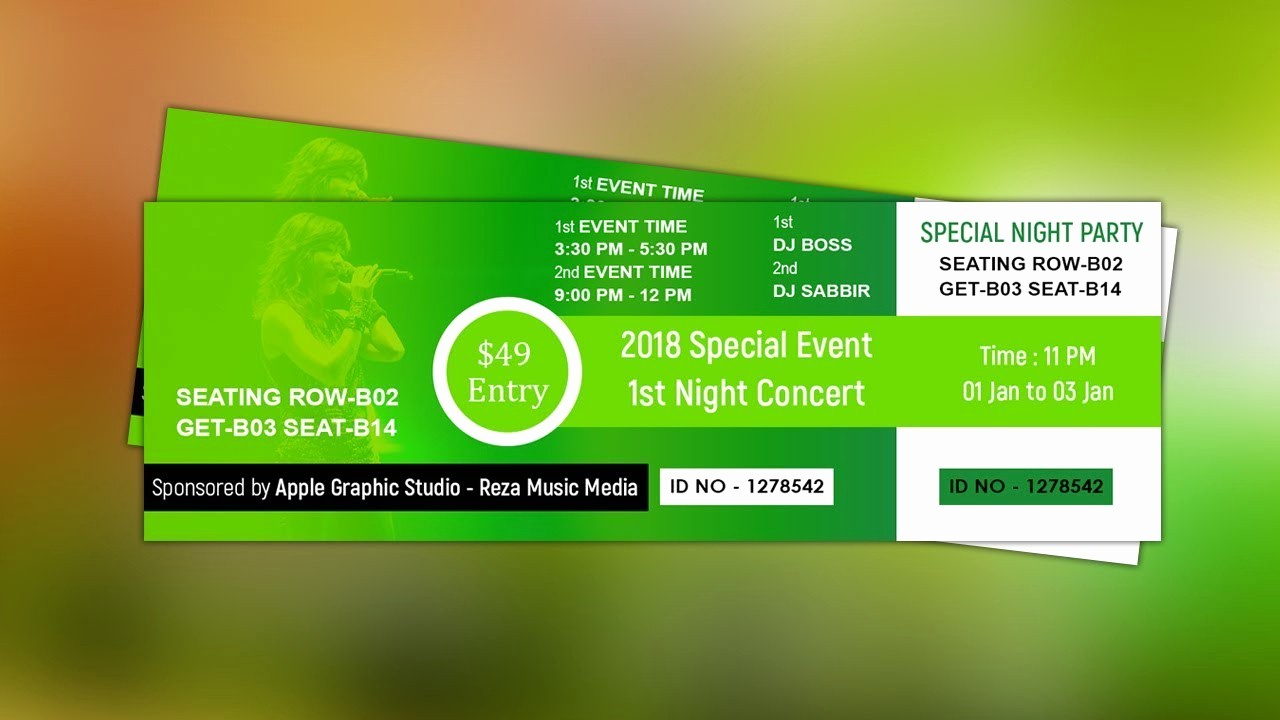 How to Create event Tickets Fresh How to Create event Ticket Design Shop Tutorial