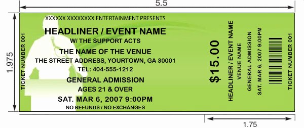 How to Create event Tickets Luxury 14 event Ticket Templates Excel Pdf formats