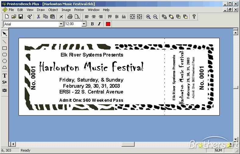 How to Create event Tickets Luxury Download Free Printersbench Plus Printersbench Plus 1 17