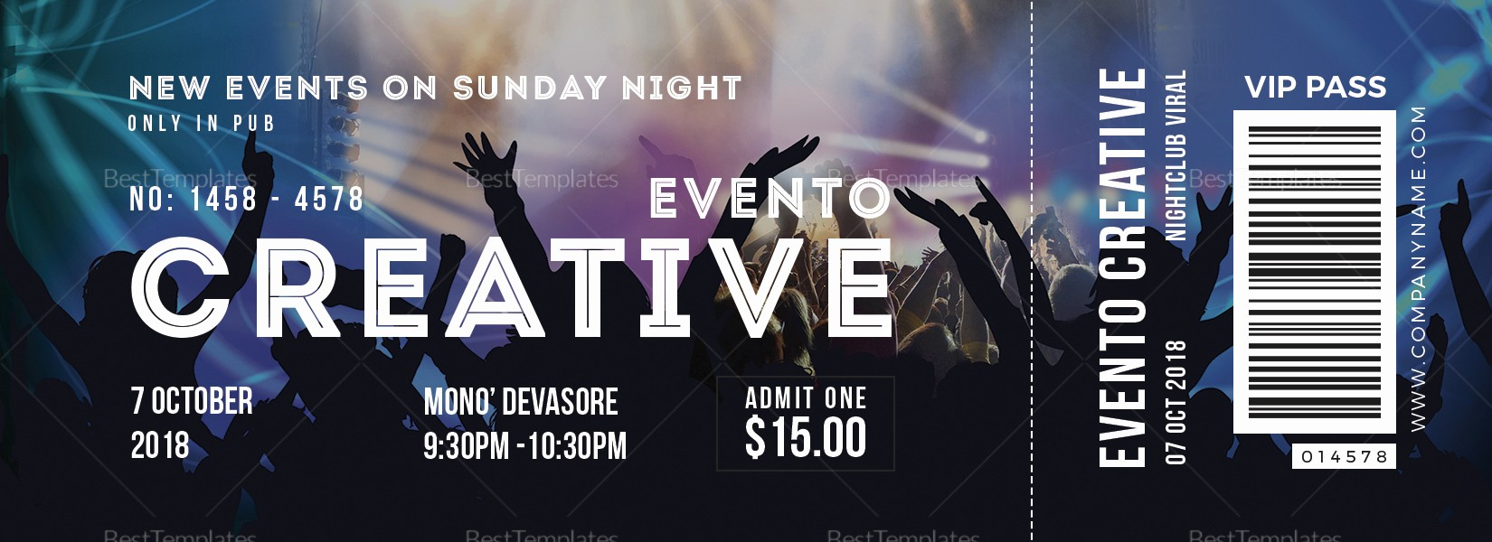 How to Create event Tickets New Live event Ticket Design Template In Word Psd Pages