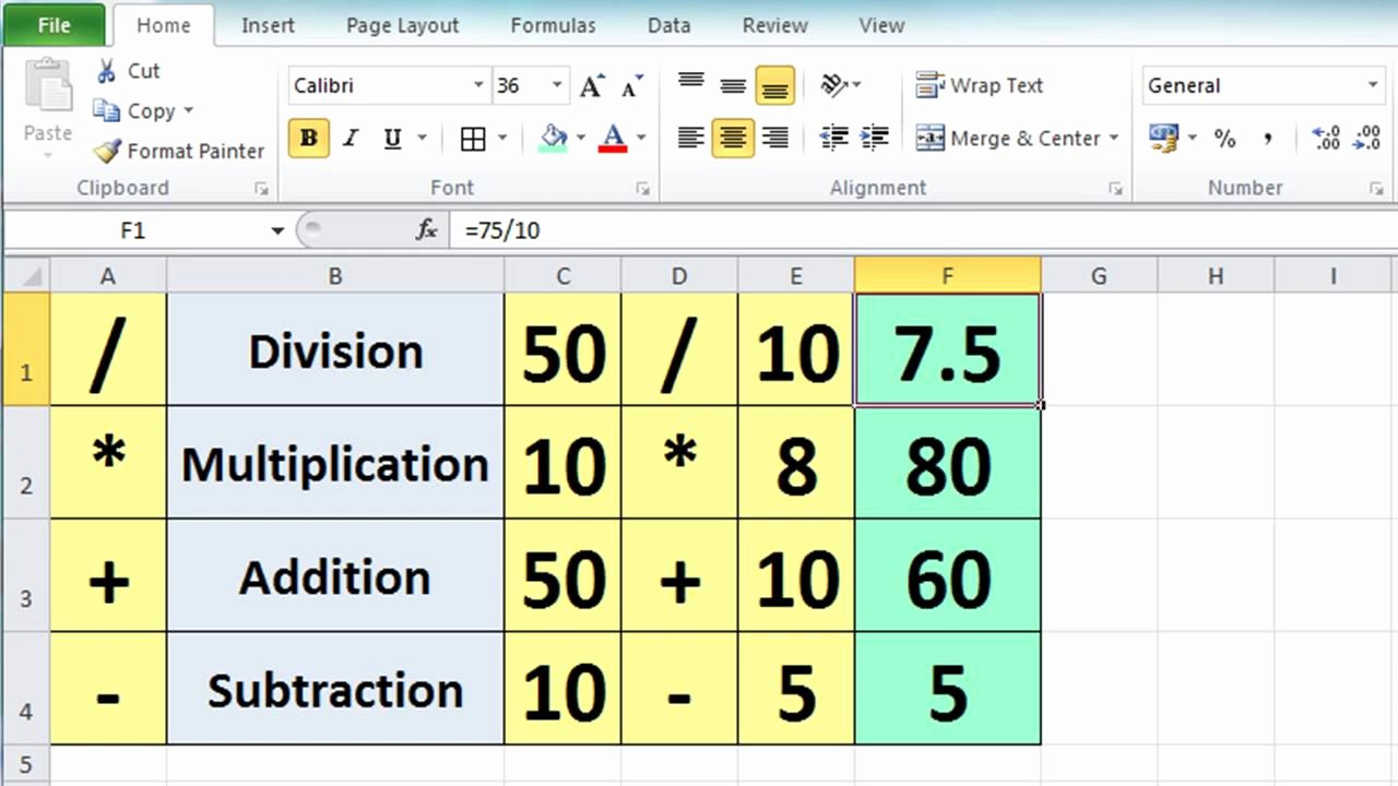 How to Create Excel formulas Awesome Excel 2010 Tutorial for Beginners 3 Calculation Basics