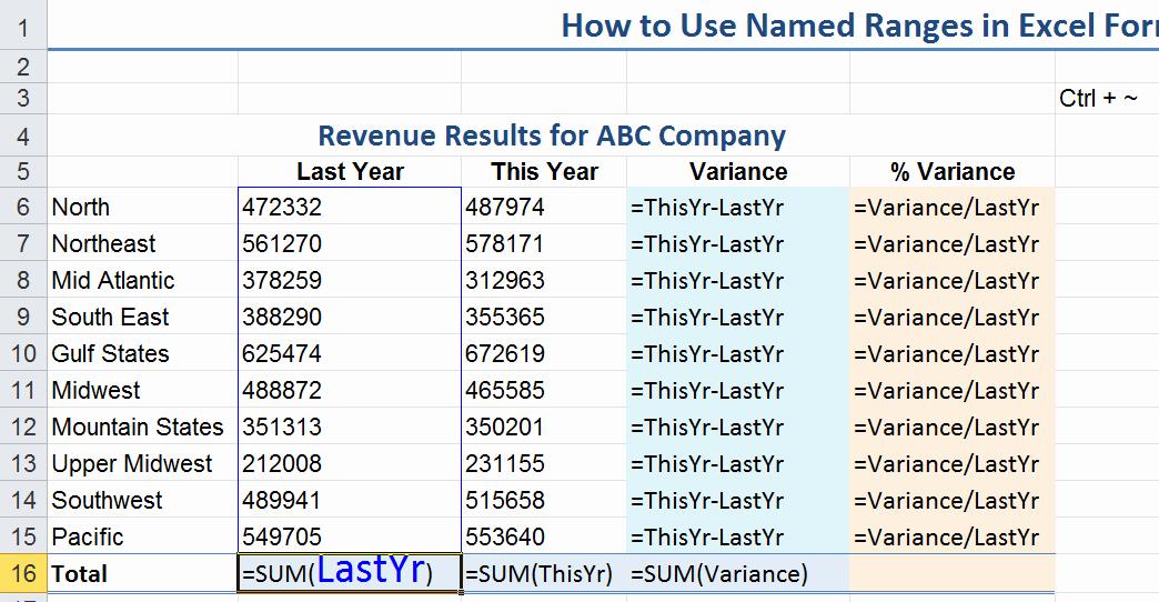 How to Create Excel formulas Best Of Excel 2010 Vba Use Named Range 20 Tips for Named Ranges