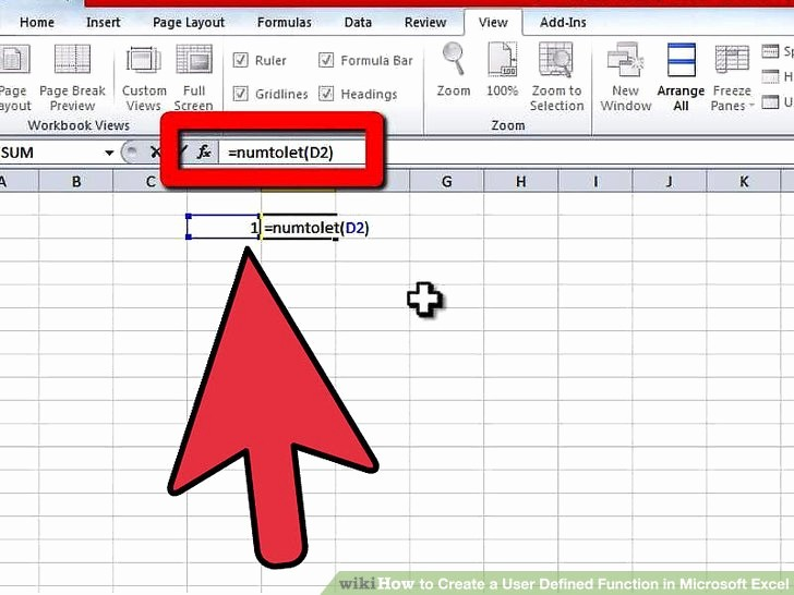 How to Create Excel formulas Best Of How to Create A User Defined Function In Microsoft Excel