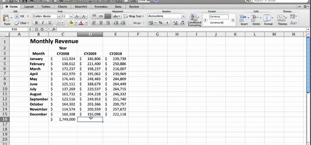How to Create Excel formulas Best Of How to Create An Autosum formula In Microsoft Excel 2010