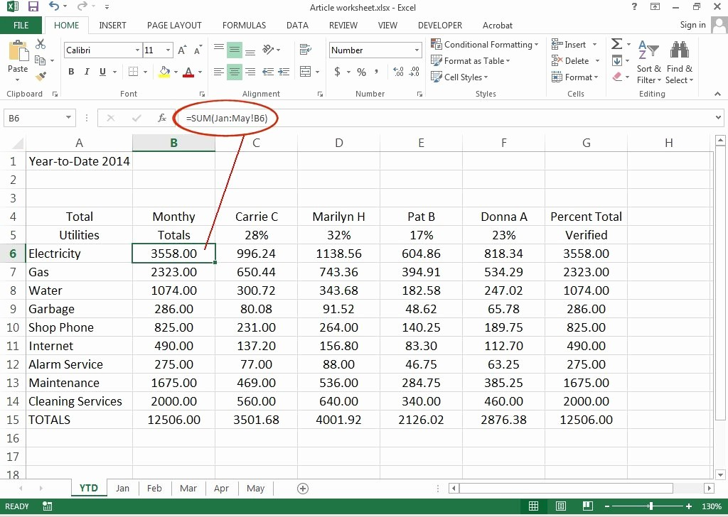 How to Create Excel formulas Elegant How to Create 3d Worksheets In Excel 2013