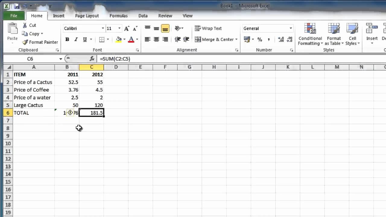 How to Create Excel formulas Elegant How to Make Excel 2010 formulas Absolute