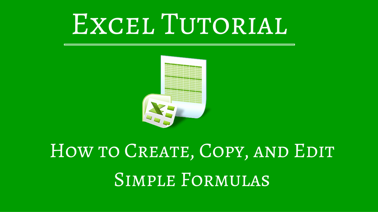 How to Create Excel formulas Inspirational Excel formulas for Beginners Create Edit Copy