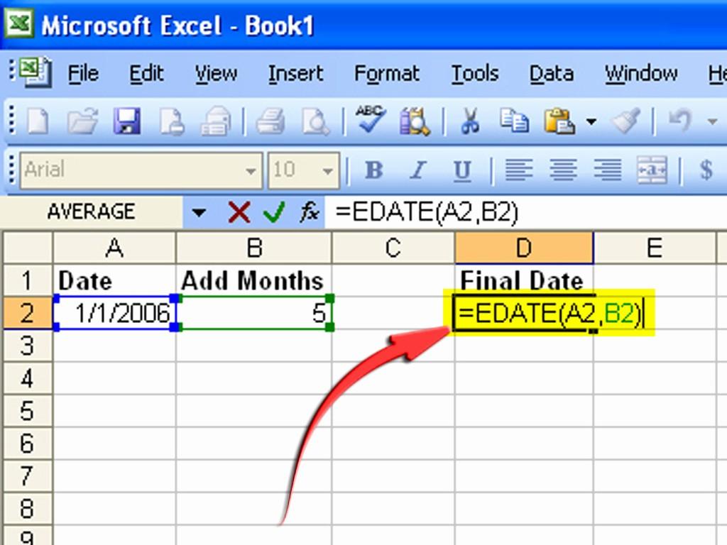 How to Create Excel formulas Inspirational How to Create A formula to Increase A Date by 1 Month 6 Steps