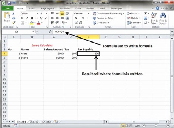 How to Create Excel formulas Lovely Creating formulas In Excel 2010