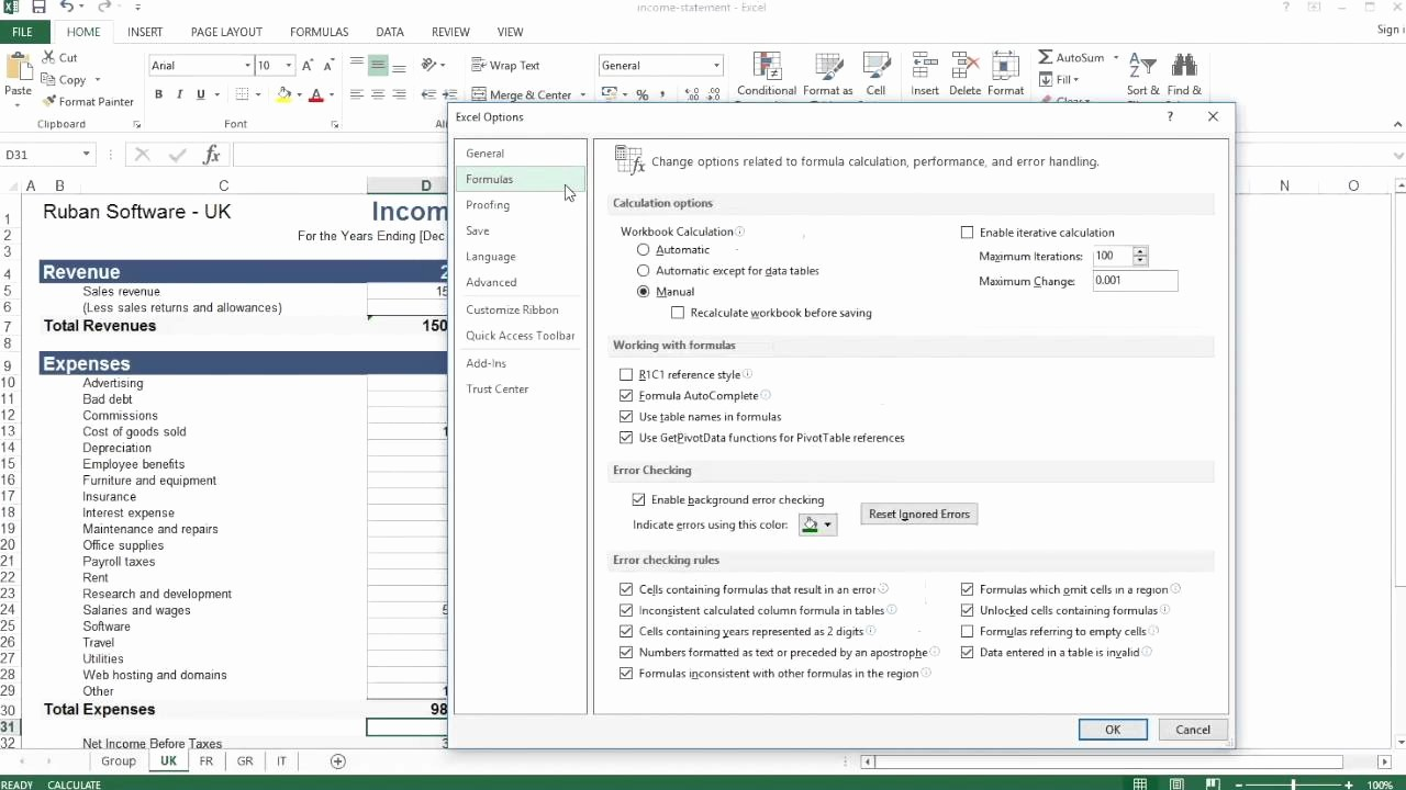 How to Create Excel formulas Lovely Excel Make formulas Update Automatically