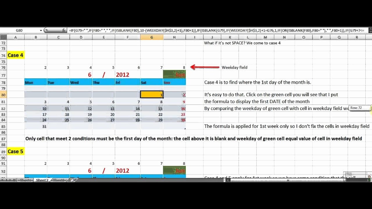 How to Create Excel formulas Lovely How to Make Perpetual Calendar Using formula In Excel 2007