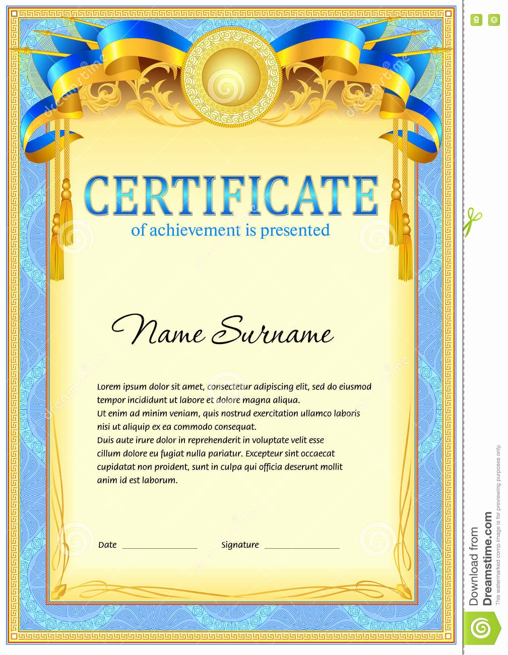 How to Design A Certificate Awesome Certificate Design Template Stock Vector Image