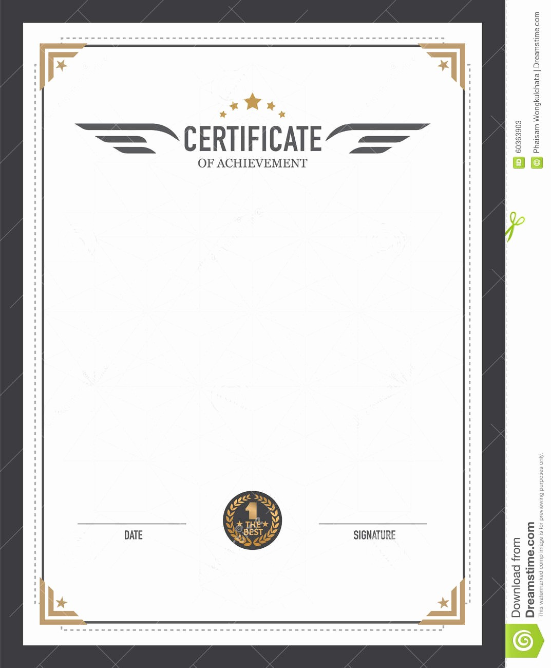 How to Design A Certificate Awesome Retro Certificate Design Template Stock Vector