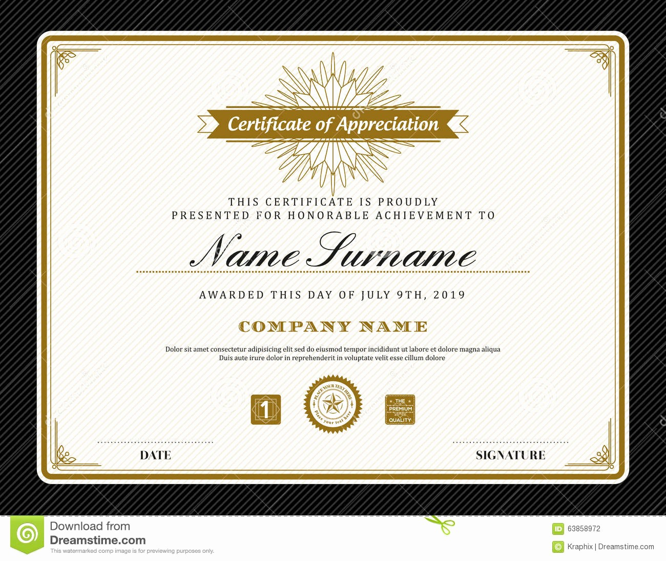 How to Design A Certificate Awesome Vintage Retro Art Deco Frame Certificate Background