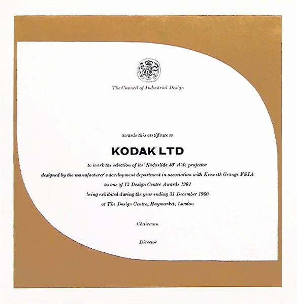How to Design A Certificate Beautiful Ken Garland Graphic Design Design Centre Awards