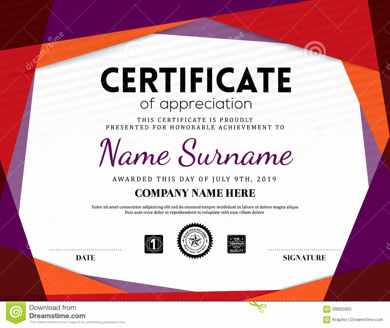 How to Design A Certificate Beautiful Modern Certificate Triangle Background Frame Design Stock