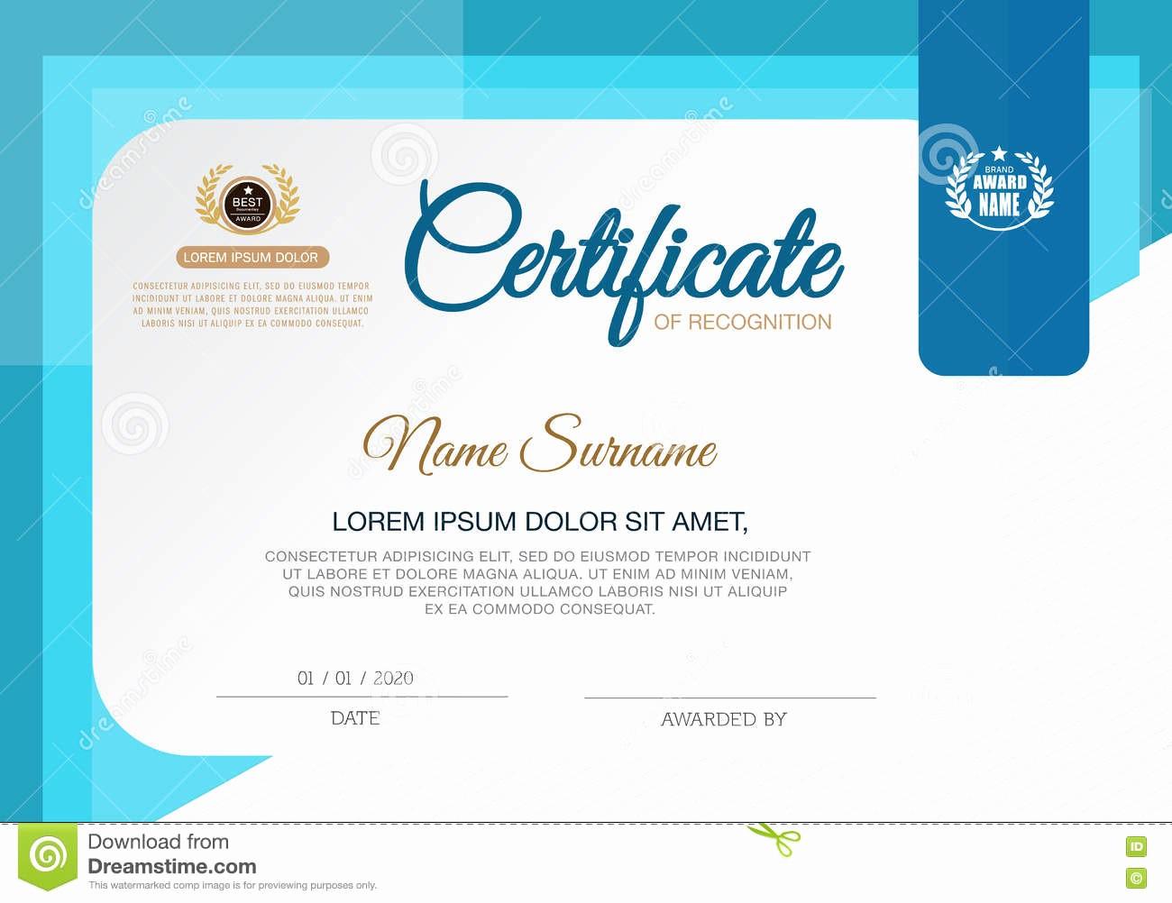 How to Design A Certificate Best Of Certificate Achievement Frame Design Template Blue