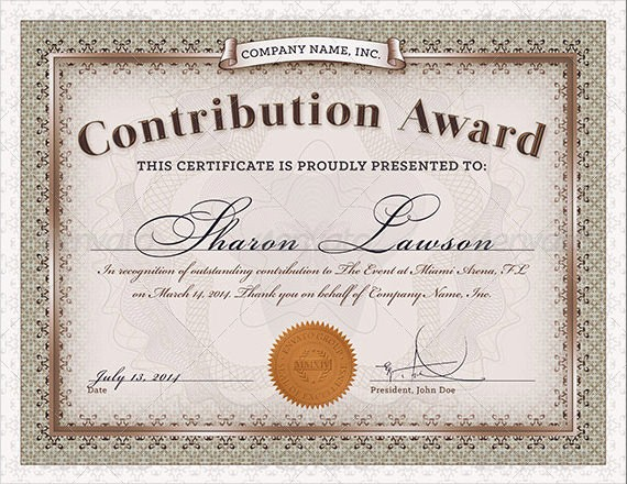 How to Design A Certificate Elegant 23 Award Certificate Templates – Free Examples Samples