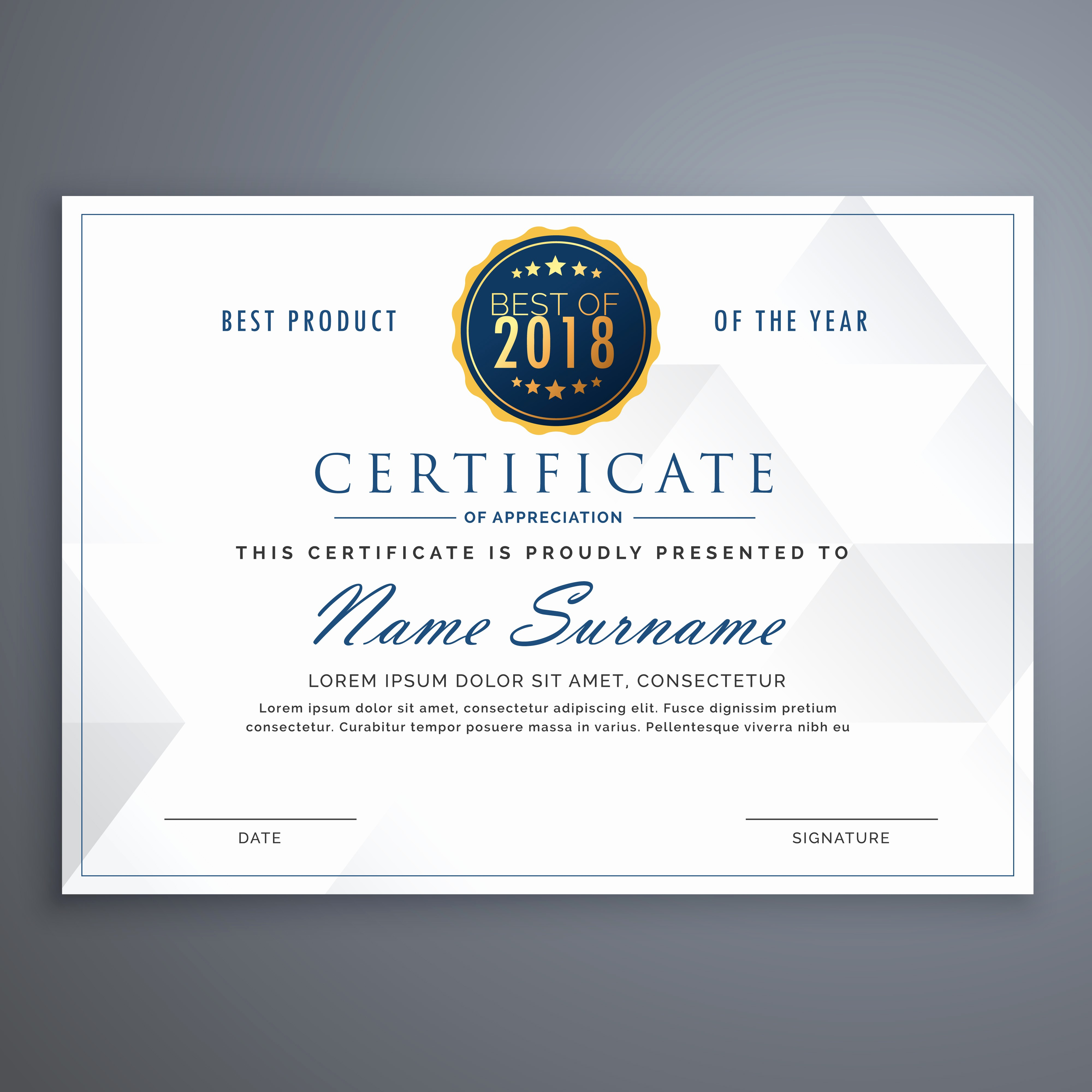 How to Design A Certificate Elegant Clean White Certificate Design Template Download Free