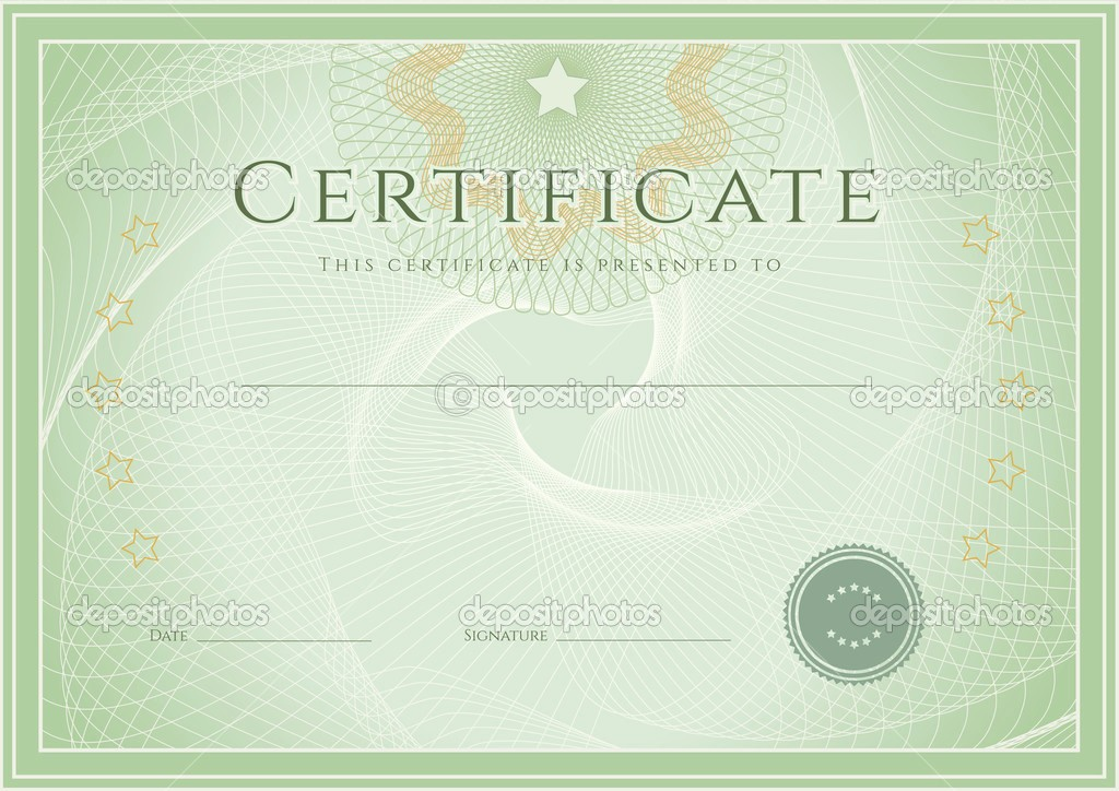 How to Design A Certificate Elegant Photo New Certificate Template Design Stock Vector
