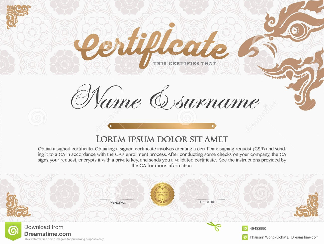 How to Design A Certificate Fresh Certificate Design Template Stock Vector Image
