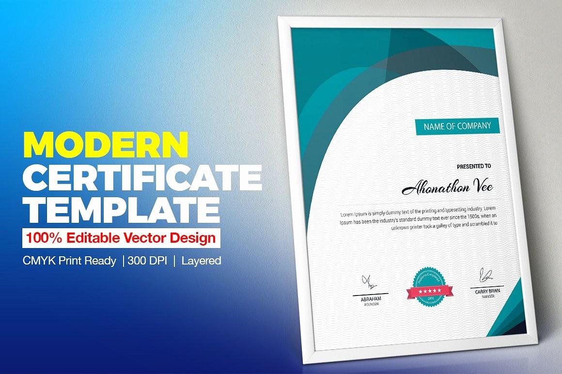 How to Design A Certificate Fresh Certificate Template
