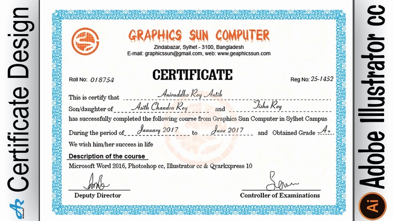 How to Design A Certificate Fresh Creating Professional Puter Certificate Design In