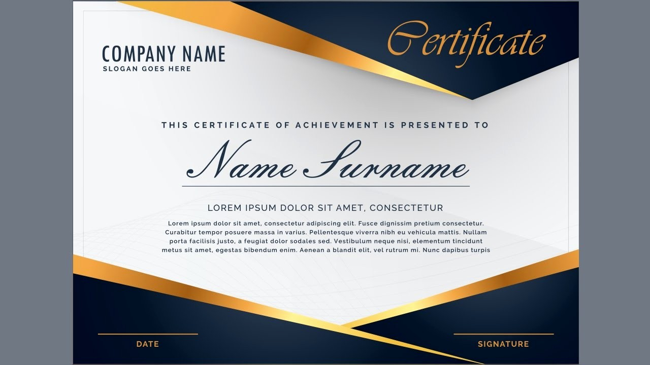 How to Design A Certificate Inspirational Creating A Professional Certificate Design Using Guides