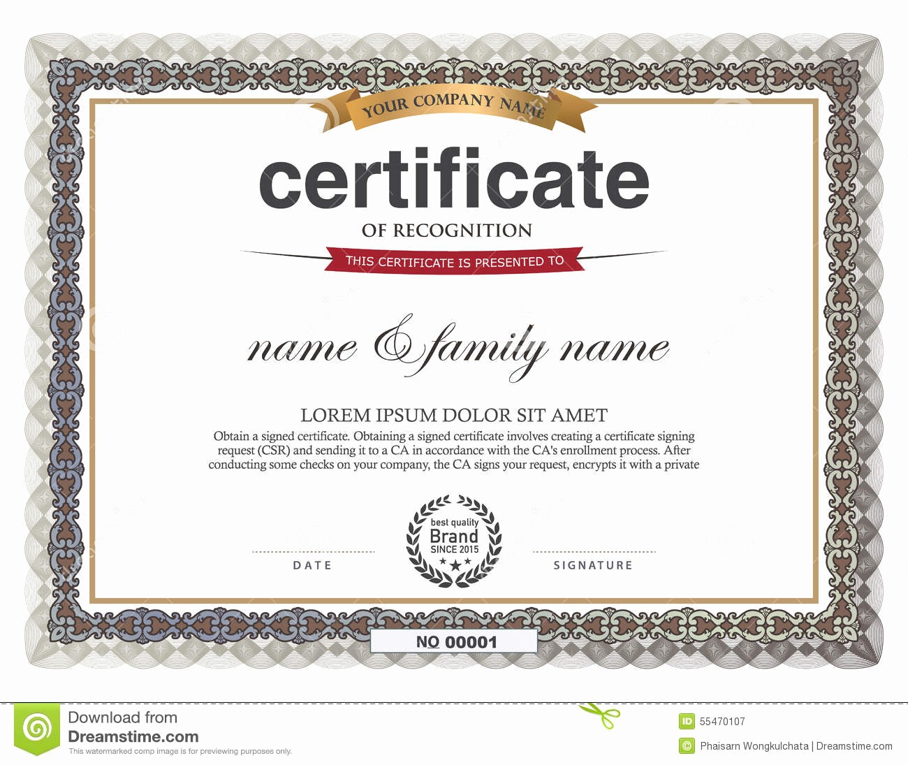 How to Design A Certificate Lovely Certificate Design Template Stock Vector Image