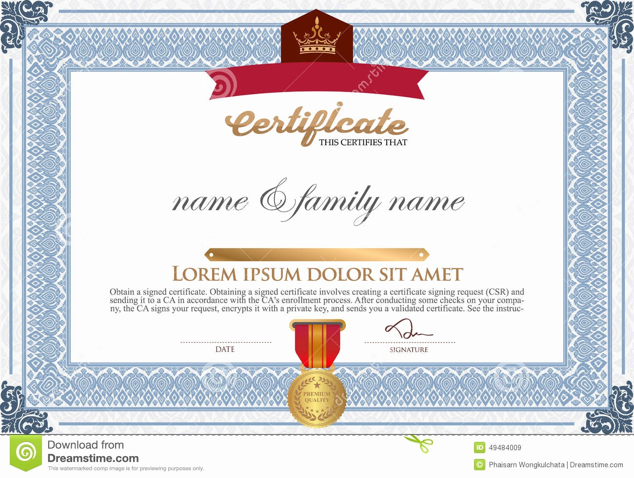 How to Design A Certificate Luxury Certificate Design Template Stock Vector Illustration