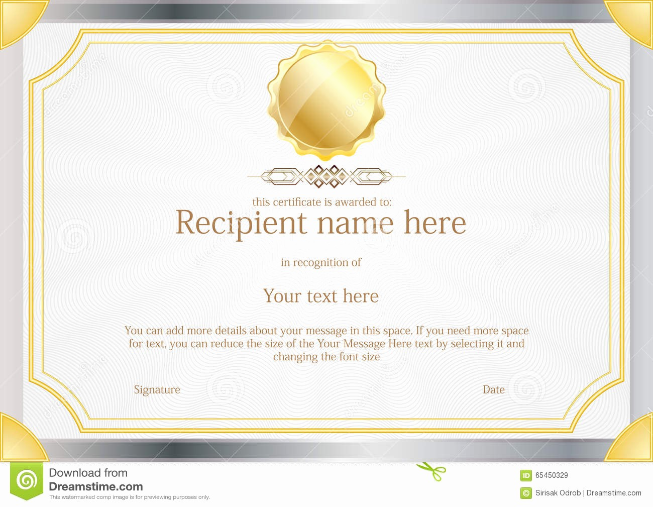 How to Design A Certificate New Award Certificate Frame Template Design Vector Stock